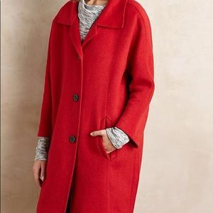 A the elevenses brienne cocoon red coat M